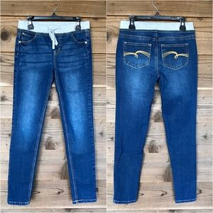 Justice Super Low Knit Waist Super Skinny Jeans 12